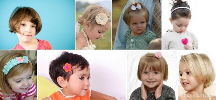Модные детские стрижки для девочек на короткие волосы